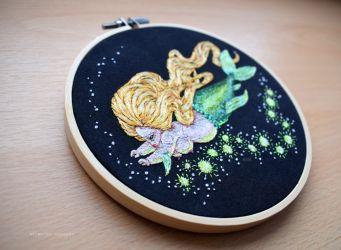 Mermaid Embroidery 2