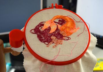 Orange Mermaid wip2