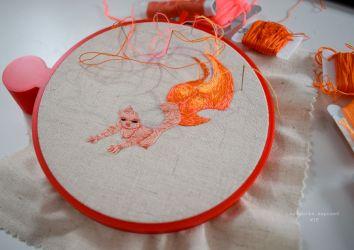 WIP Orange Mermaid