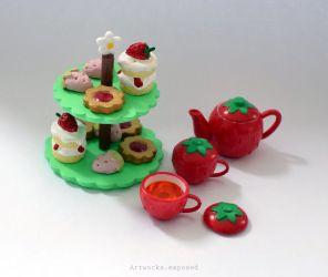 Re-Ment Strawberry Tea