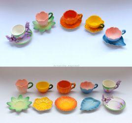 Re-ment Floral Cups