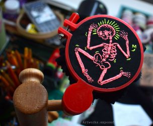 Skeleton Embroidery
