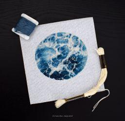 Waves Cross stitch