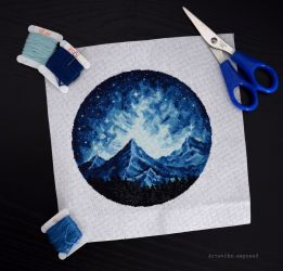 Mountains X-stitch